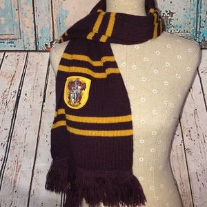 """HARRY POTTER~Griffindor House Knit Scarf 66x10""""OS"""